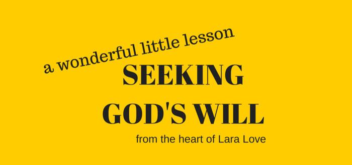 seeking God's will