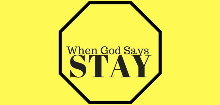 when god says stay