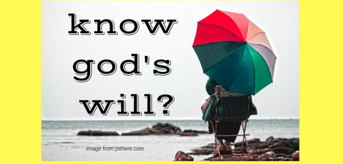 know god's will