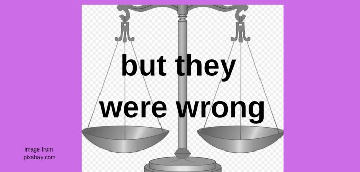 but they were wrong