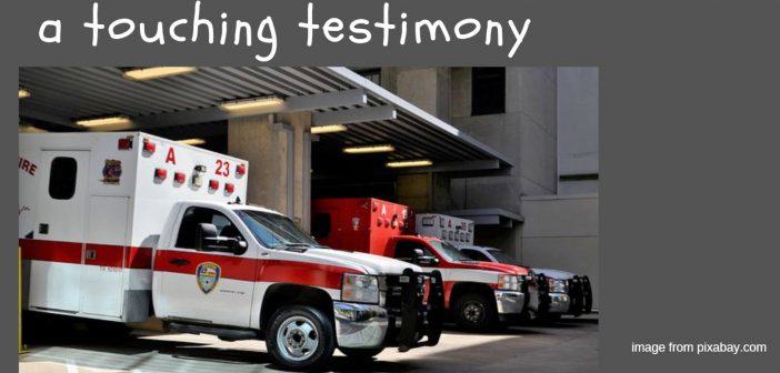 touching testimony