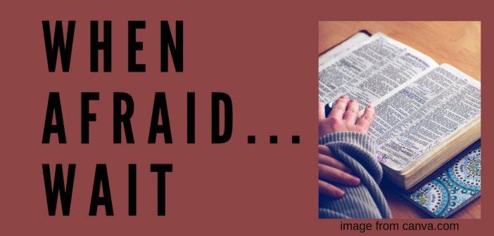 when afraid...wait