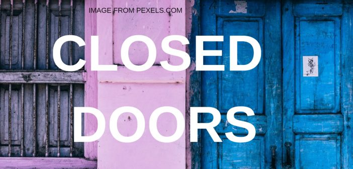 closed doors