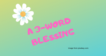 3 word blessing