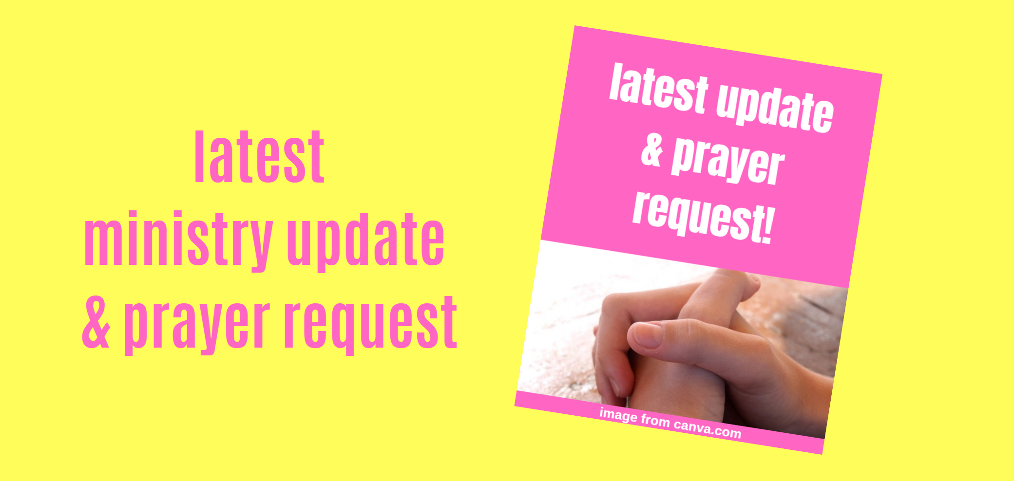 Latest MINISTRY UPDATE & PRAYER REQUEST | Walk by Faith Ministry