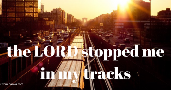 lord stopped me in my tracks