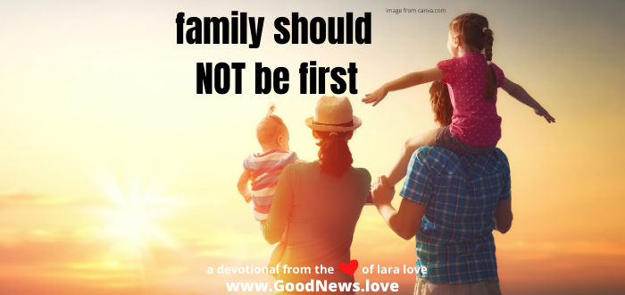 family should not be first website